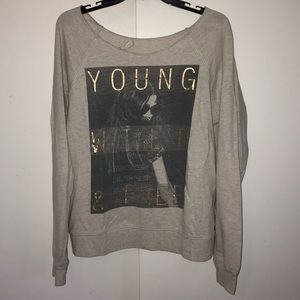 Young, Wild & Free pull over sweatshirt